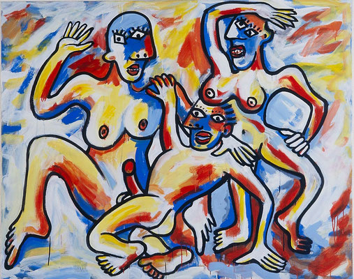 Viva la Espagna, acryl on canvas, 120 x 155 cm, 1998