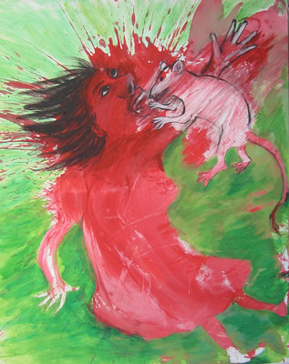 Rat Attack, 2019, 120 x 100 cm, acryl on canvas