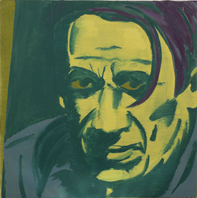 Picasso,  oil on canvas, 50 x 50 cm, 1997