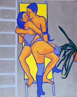 Malibu, acryl on canvas, 100 x 80 cm, 1998