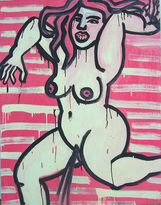 Pee, acryl on canvas, 90 x 70 cm, 1993