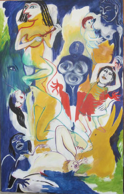 Viva Feminale, 2018, 155 x 105 cm, oil on canvas