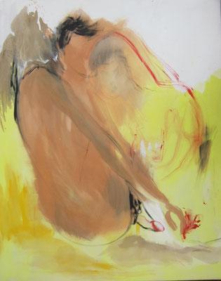 o.T., 2018, 100 x 80 cm, acryl on canvas