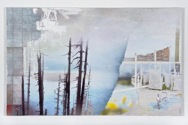 finde verwunderlich, Décalcage auf Holz, 85 cm x 135 cm, 2007