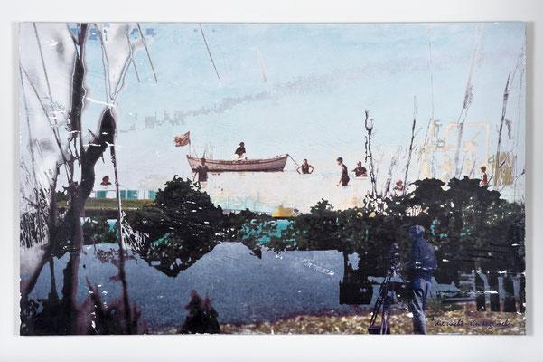 die nacht - ein auge mehr, Décalcage auf Holz, 85 cm x 135 cm, 2007