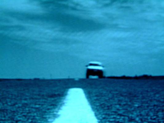 blaupause 11.9.2001 - 11.9.2002, Fotoprint auf Dibond, 22,5 cm x 16,9 cm