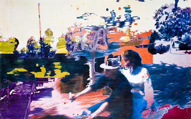 lebenszeichen2, Décalcage auf Holz, 130 cm x 210 cm, 2007