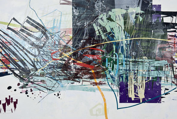 Décalcage on wall, gallery ars agenda, Munich