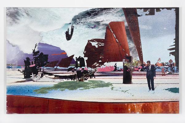 streune - glückliche zeit, Décalcage auf Holz, 85 cm x 135 cm, 2007