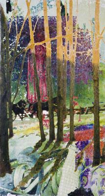 lichtung44, dreiteilig, 241 cm x 390 cm, 2008