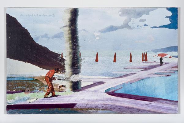 der wind ist meine weite, Décalcage auf Holz, 85 cm x 135 cm, 2007