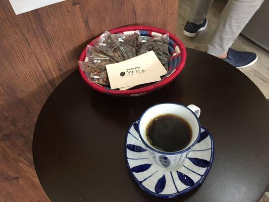 待ってる間に飲んだコーヒーも美味しい。