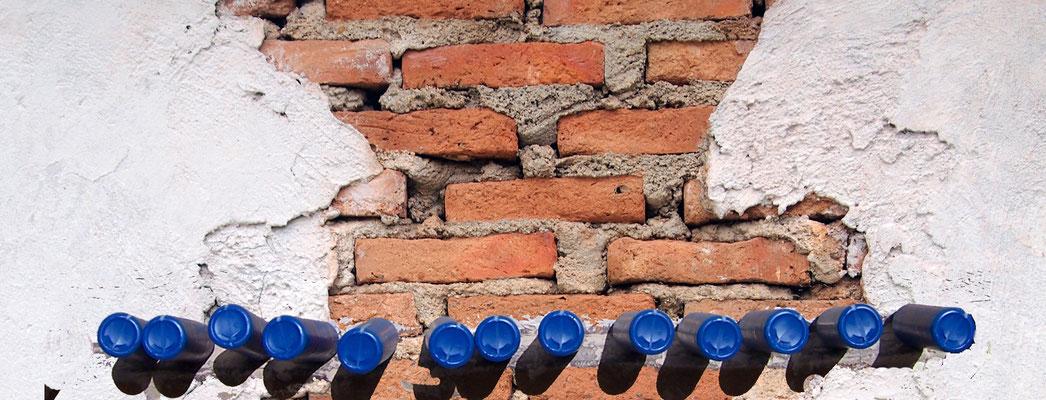 Trocknlegung von Mauern mit  und Partner, Santa Ponsa, Mallorca