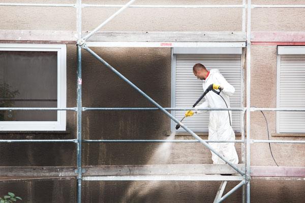 Renigung von Fassaden mit Bauko und Partner, Santa Ponsa, Mallorca