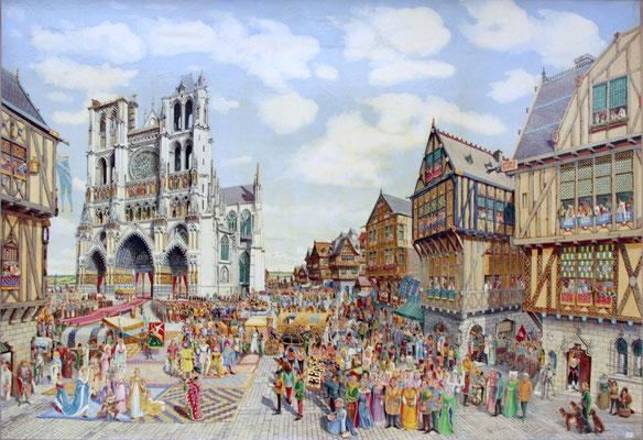 Mariage de Charles VI et d'Isabeau de Bavière à Amiens le 17 juin 1385.
