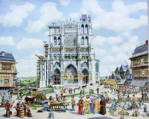 Les bâtisseurs de cathédrale (construction de la cathédrale d'Amiens)
