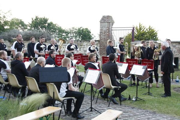 L'orchestre de cuivres d'Amiens.