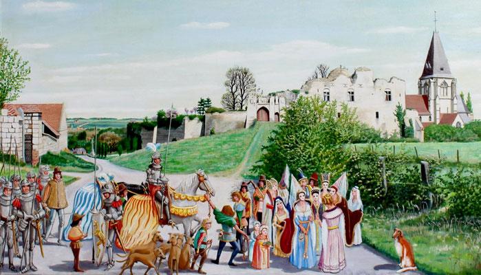 Défilé costumé aux abords du château de Picquigny