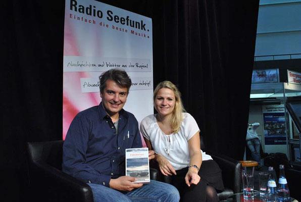 Buchvorstellung bei Radio Seefunk im Oktober 2013.