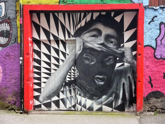 Inspirierendes Graffiti aus Cork City.