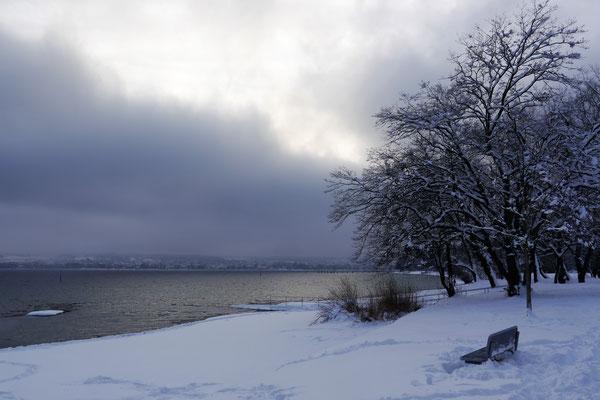 Eine Winterfront zieht auf.