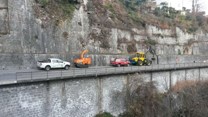Taglio strada cantonale, Brione sopra Minusio