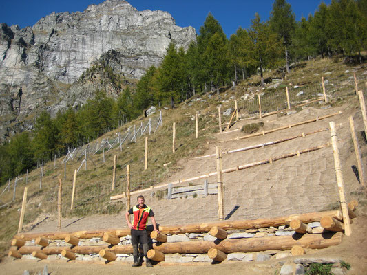 Cassone in larice e recinzione contro la selvaggina, monte Tenc - Brione Verzasca