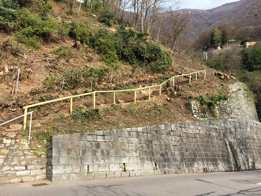 Corrimano in castagno, Ronco sopra Ascona