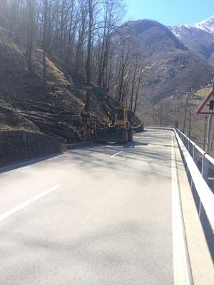 Taglio strada cantonale, Lavertezzo