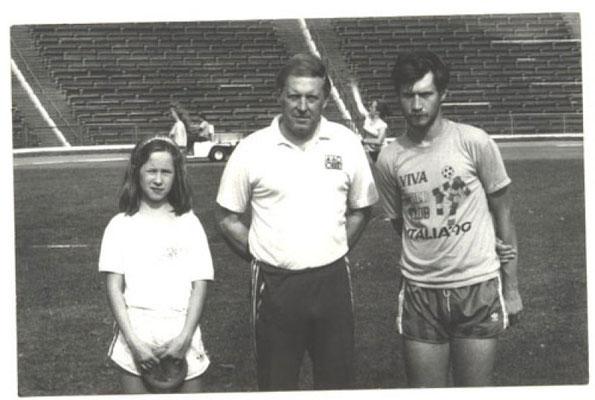 z córką Aleksandrą i synem Piotrkiem