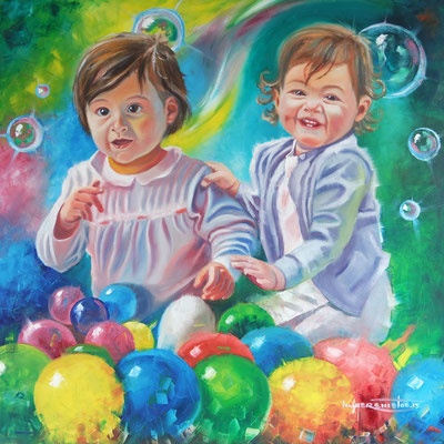 """Twins"", oil, canvas, 80x80cm, 2015"