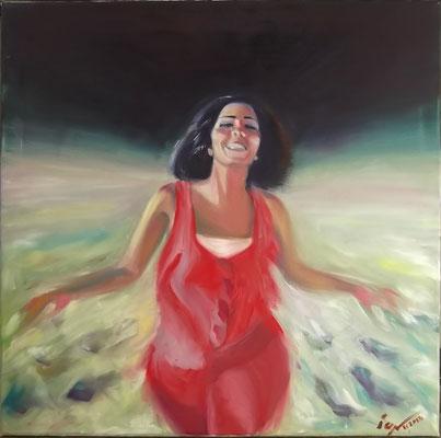 """""""Night on the Beach"""", oil, canvas, 58x58cm, 2013"""