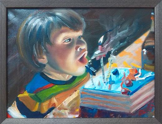 """Danik"", oil, canvas, 30x40cm, 2013"