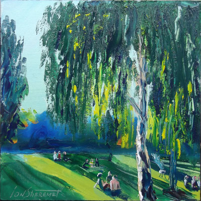 """Berlin Park"", oil, canvas, 20x20cm, 2013"