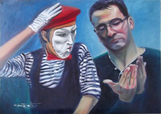 """""""The Diagnosis"""", oil, board, 50x70cm, 2014"""