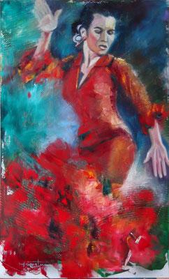 """""""Red Passion"""", oil, board, 60x100cm, 2014"""