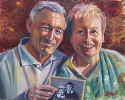 """""""Siblings"""", oil, canvas, 30x40cm, 2013"""