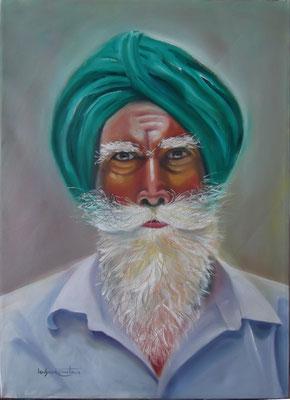 """""""Rajasthan Jinn"""", oil, canvas, 50x70cm, 2014"""