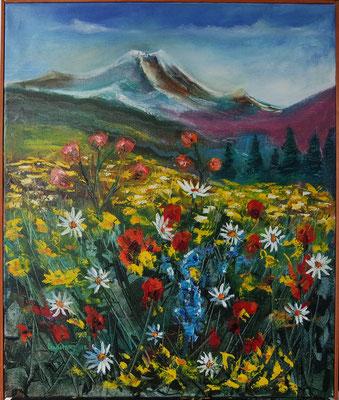 """The Mountain Flowers"", oil, canvas, 50x60cm, 2015"