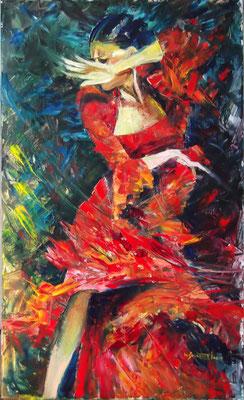 """""""Let Me Dance It"""", oil, board, 60x100cm, 2014"""