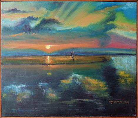 """""""The Cloud Mirror"""", oil, canvas, 50x60cm, 2015"""