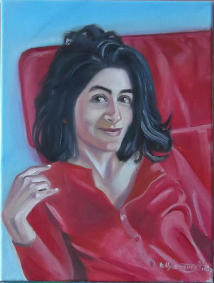 """""""Red on Red II"""", oil, canvas, 30x40cm, 2013"""