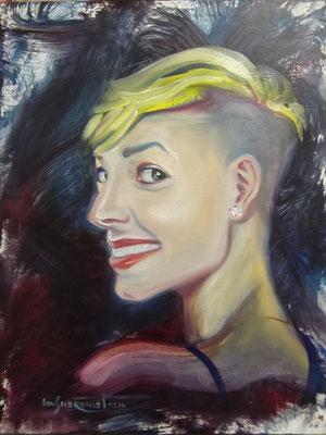 """Jani Freeway"", oil, board, 30x40cm, 2014"