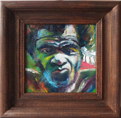 """The Scepticism"", oil, canvas, 20x20cm, 2015"