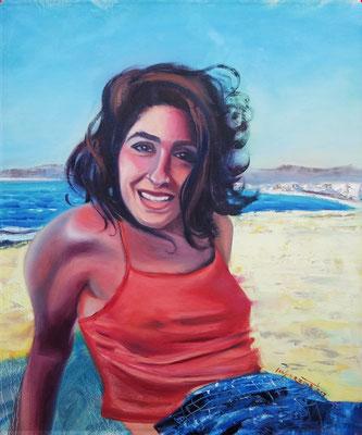 """""""Last Day on the Beach"""", oil, canvas, 50x60cm, 2017"""