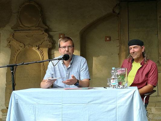 Hubert und Andreas Schirneck: Lesung auf dem Camposanto in Buttstädt