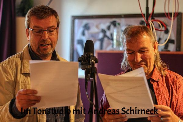 Hubert Schirneck und Andreas Schirneck im Tomstudio