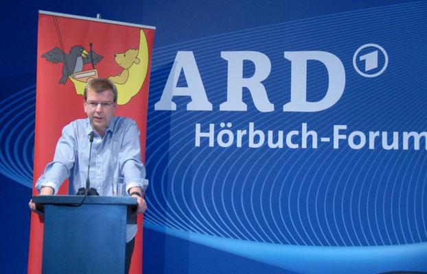 Lesung Hubert Schirneck Hörbuchforum der ARD auf der Leipziger Buchmesse