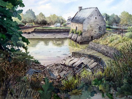 Moulin de mer à Pamper , Baden , Morbihan
