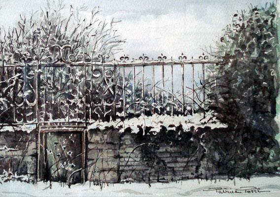 Porte de jardin en friche Merville Franceville